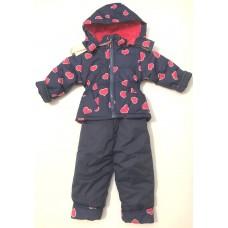 Детский зимний комбинезон, куртка + штаны 80 -86 см