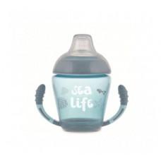 Кружка непроливайка с силиконовым носиком Sea life - 56/501