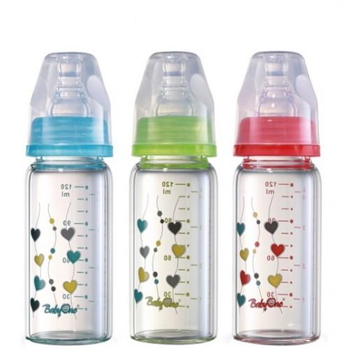 Бутылочка стеклянная стандартная 120 мл  BabyOno