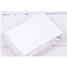 Простыня для кровати 120x60 белая на резинке