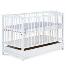 Детская кроватка с выдвижным ящиком Klupek Radek II белая