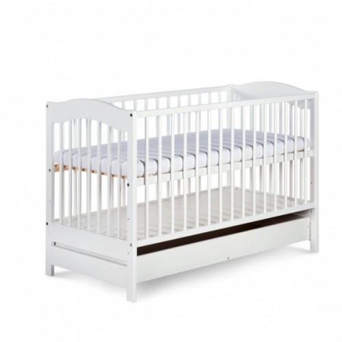 Детская кроватка с выдвижным ящиком Klupś Radek V сосна