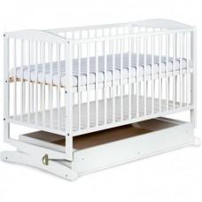 Детская кроватка-колыбель с выдвижным ящиком Klupś Radek белый