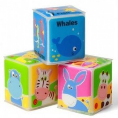 Кубики BabyOno Развивающие мягкие