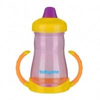 Кружка BabyOno Non-spill с мягким мундштуком 220 мл