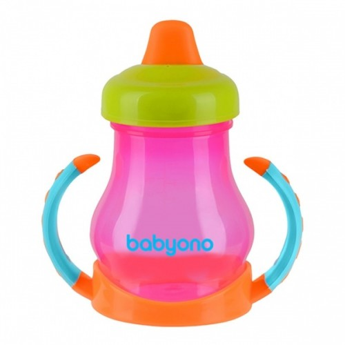 BabyOno Нескользящая чашка с мягким мундштуком