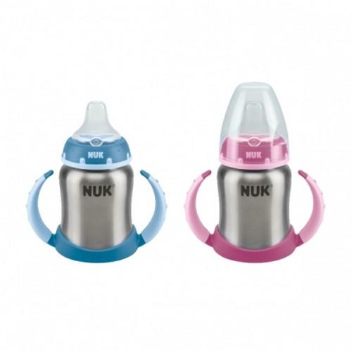 Nuk First Choice Бутылка из нержавеющей стали с двойной ручкой и силиконовым мундштуком