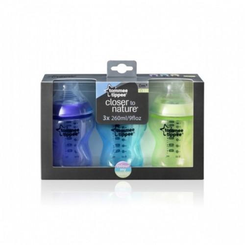 Набор бутылочек Tommee Tippee Color 260 мл 3 шт