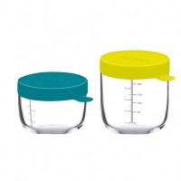 Beaba Набор стеклянных банок с герметичной крышкой