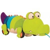 Игрушка-каталка Battat на веревочке Крокодил