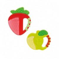 Chicco прорезыватель  форма клубника или яблоко