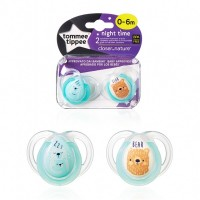 Соска Tommee Tippee Night Time 0-6 м