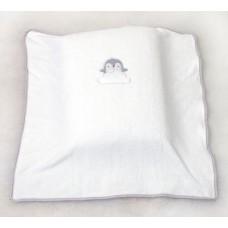 Одеяло для кроватки Amy Penguins White