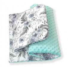 Одеяло и подушка в коляску Amy Minky Monocolor Exclusive Rose Garden