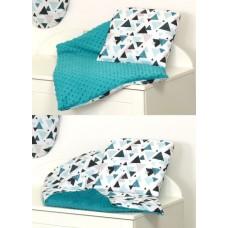 Одеяло и подушка в коляску  Amy Minky
