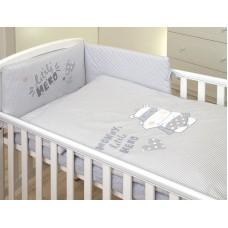 Детское постельное белье Amy из 3-х частей 135 × 100 Hero Grey
