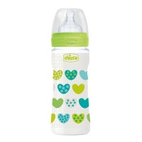 Бутылочка для кормления пластиковая Chicco Well-Being с силиконовой соской 4мес+