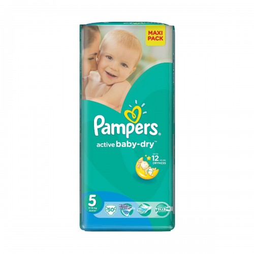 Pampers Active Baby-Dry Junior 5 (11-18 кг), 50 штук