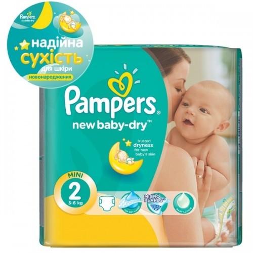 Подгузники Pampers New Baby-Dry  2 (3-6 кг)