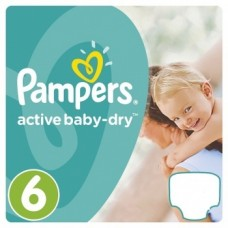 Pampers Active Baby-Dry Extra Large 6 (15+ кг), 42 штуки
