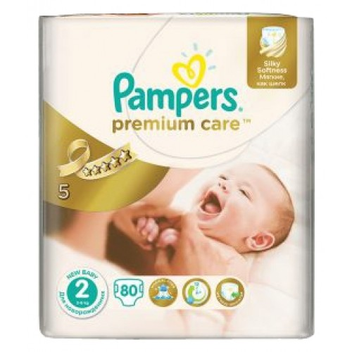 Подгузники Pampers Premium Care New Baby 2 (3-6 кг), 80 штук