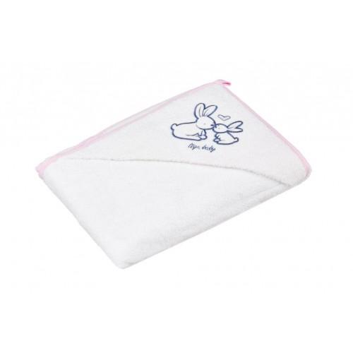 Полотенце с капюшоном КРОЛИКИ 80*80 см