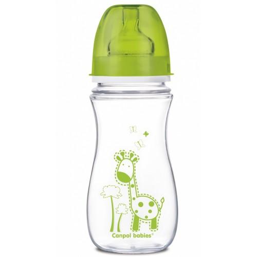 Антиколиковая бутылочка с широким горлышком Цветные зверушки, 300 мл EasyStart